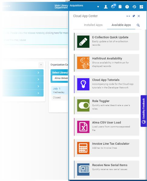 Cloud Apps Center