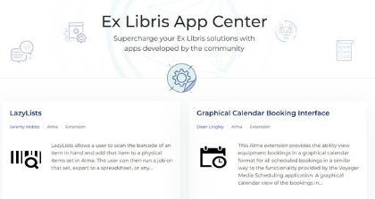 Ex Libris Launches App Center