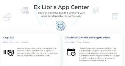 Ex Libris Launches App Center