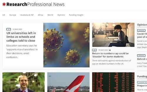 Research Professional COVID-19 initiative
