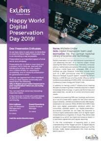 World Preservation Day White Paper 2019